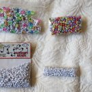 Lot Of 4 Bags Of Alphabet Beads  Estimated Amount 750+