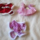 Lot Of 3 Build-A-Bear Outfits  Santa, Ice Skater And Ballerina