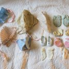 Lot Of 16 Doll Or Baby Clothes Accessories Including   Hats shoes socks