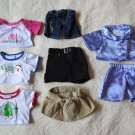 Build-A-Bear Lot Of 8 Pieces  3 Outfits And A Set Of Pajamas