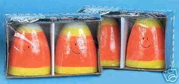 SET OF 4 Halloween Candy Corn Candles BRAND NEW