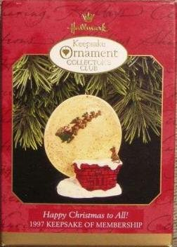 BRAND NEW IN BOX 1997 Hallmark Keepsake Collector's Club Ornament Happy Christmas to all.