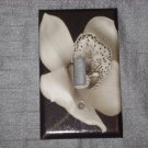 FLORAL BLACK WHITE Single Light Switch Plate Cover