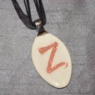 Z INITIAL MONGRAM Spoon Pendant / Necklace   Upcycle