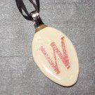 W INITIAL MONGRAM Spoon Pendant / Necklace   Upcycle