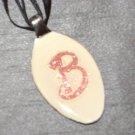 B INITIAL MONGRAM Spoon Pendant / Necklace   Upcycle