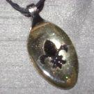 FLEUR DE LIS Spoon Pendant / Necklace   Upcycle