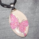 BUTTERFLY Spoon Pendant / Necklace   Upcycle