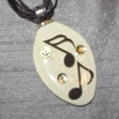 MUSIC NOTE Spoon Pendant / Necklace   Upcycle