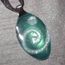 AQUA SCROLL Spoon Pendant / Necklace   Upcycle