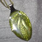 GREEN SCROLL Spoon Pendant / Necklace   Upcycle