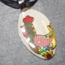 ROOSTER Spoon Pendant / Necklace   Upcycle