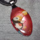 TOUCAN Spoon Pendant / Necklace   Upcycle