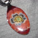 FLOWER FLORAL Spoon Pendant / Necklace   Upcycle