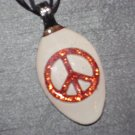 PEACE SIGN Spoon Pendant / Necklace   Upcycle