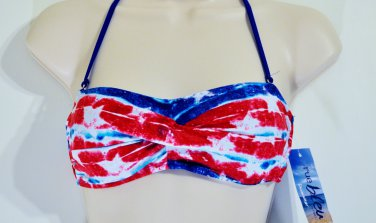 Stars and Stripes bandeau swim top size L