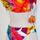 Leaf Bandeau two piece swim set size 12