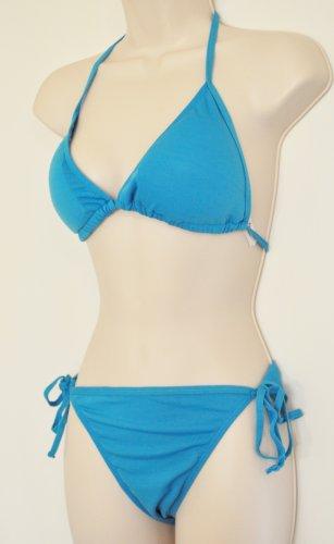 Aqua Blue Bobbie Brooks Bikini. Size S