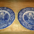 Liberty Blue Ironstone Plate - Independence Hall