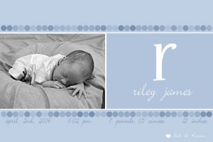 Beautiful Photo Birth Announcement! Design Only!