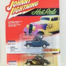 JOHNNY LIGHTNING HOT RODS 1:64 1937 FORD COUPE '37 2 CAR LOT MINT NRFP