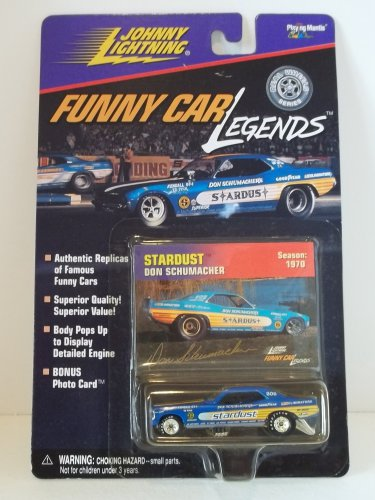 JOHNNY LIGHTNING FUNNY CAR LEGENDS DON SCHUMACHER STARDUST 1970 SEASON NRFP