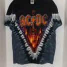 LIQUID BLUE AC/DC T SHIRT HELLS BELLS TIE DYE MEDIUM NWT