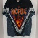 LIQUID BLUE AC/DC T SHIRT HELLS BELLS TIE DYE MEDIUM NWT