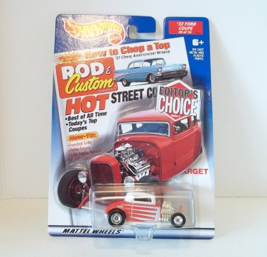 HOT WHEELS EDITORS CHOICE 1932 FORD COUPE '32 TARGET EXCLUSIVE NRFP
