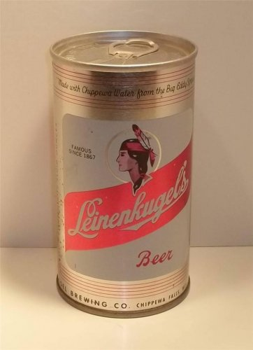 VINTAGE LEINENKUGEL'S BEER CAN STRAIGHT STEEL T/O CHIPPEWA FALLS WISCONSIN