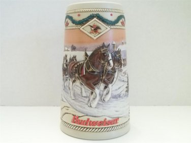 VINTAGE 1996 BUDWEISER BEER AMERICAN HOMESTEAD COLLECTIBLE HOLIDAY STEIN MUG