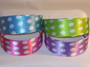HEADBAND 4 lot of 2inch polka-dot head bands