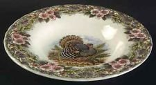 NEW 2  Churchill THANKSGIVING (MADE IN COLOMBIA) Rimmed Soup Bowls