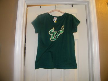NEW WOMAN'S SIDELINE UNIVERSITY OF SOUTH FLORIDA T SHIRT XL