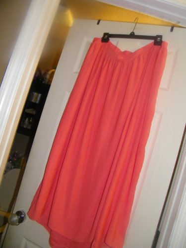 NEW LIZ LANGE CORAL MATERNITY FAUX WRAP MAXI SKIRT M