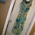 NEW WOMAN'S PLUS JBS HI-LOW SLEEVELESS FLORAL DRESS 18