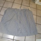 NEW MEN'S COVINGTON STRIPE SLEEP SHORTS GRAY XXL