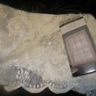 NEW COUNTRY LIVING IVORY LACE FLORAL TIERS 58X24