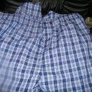 NEW MEN'S SEARS PLAID LOUNGE SLEEP PANTS NAVY GRAY 2XL