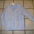 NEW BOYZ BY NANETTE 3 BUTTON FRONT STRIPE BLAZER BLUES 6
