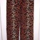 NEW WOMAN'S PLUS BOBBIE BROOKS LEOPARD FLEECE LOUNGE PANTS 2X