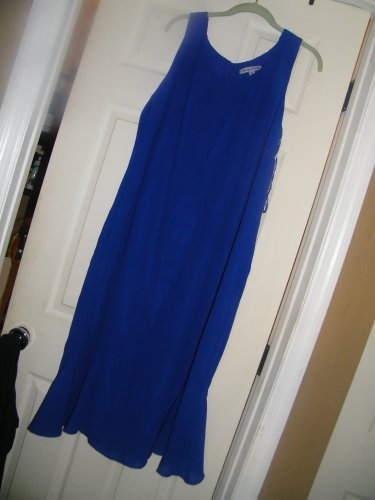NEW DANNY AND NICOLE SLEEVELESS LINED MAXI DRESS ROYAL BLUE 18 PLUS