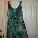 NEW TIANA B SLEEVELESS FIT AND FLARE FLORAL DRESS S