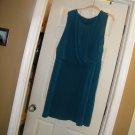 NEW GEORGE SLEEVELESS DRAPE FRONT ROYAL BLUE DRESS XL-1XL
