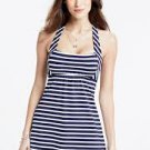 NEW LAND'S END Beach Living Stripe Halter Dresskini Top 4