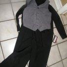 NEW DOCKERS BOYS VEST SHIRT PANTS BLACK GRAY 10