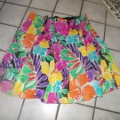 RALPH LAUREN FLORAL LINED FLARED MID CALF SKIRT 14P