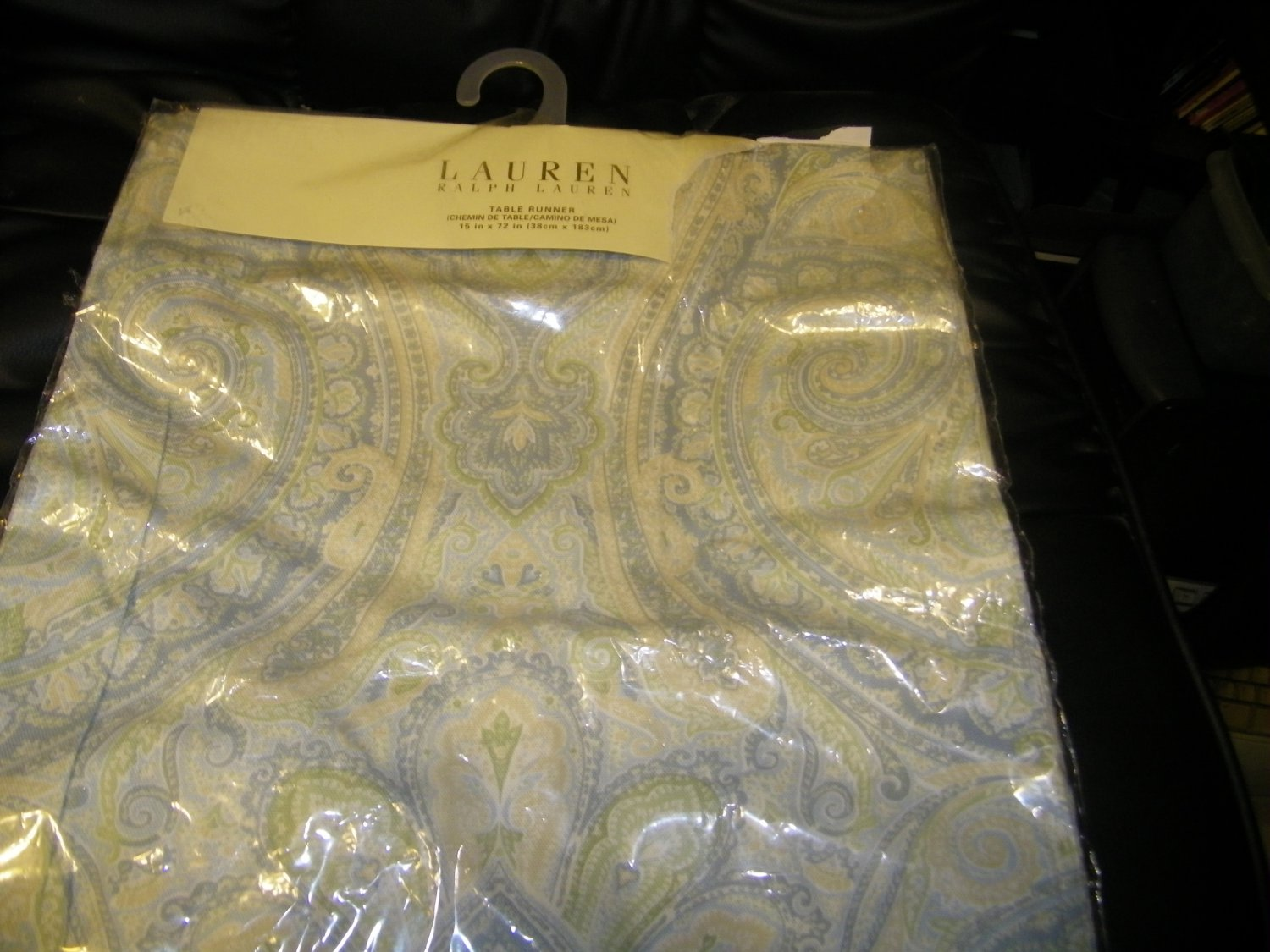 NEW  AQUA lauren PAISLEY RALPH TABLE runner LAUREN table ralph FENTON RUNNER
