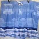 NEW TRADER BAY Mens Blue COBALT SKY OCEAN SURF Mesh Liner Swim Trunks Shorts XXL