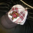 NWT MARYLAND TERRAPINS  hat unisex one size RED plaid